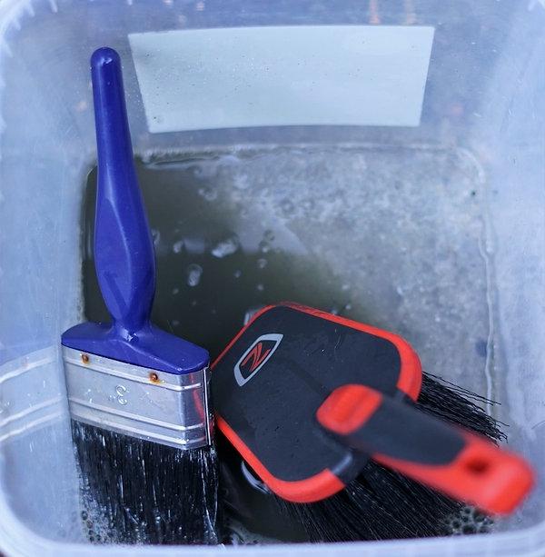 brush brushes degreaser pot tub