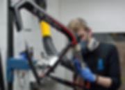 carbon fibre bike bicyl velo frame repair craftsamn artisan