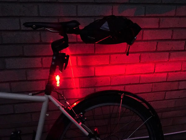 red rear cycle bicycebike light