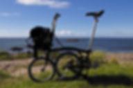 Brompton Bicyle Machrihanish Campbeltown Kintyre Beach