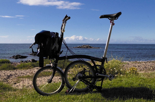 Brompton Bicyle Machrihanish Campbeltown Kintyre Beach