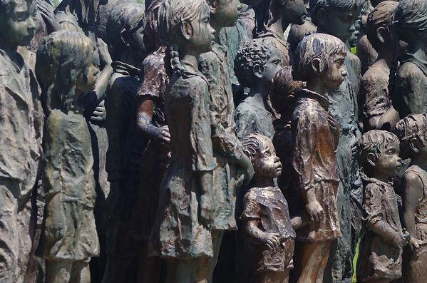 Lidice, Czech Republic, memorila to the Child Victims of War, the village children