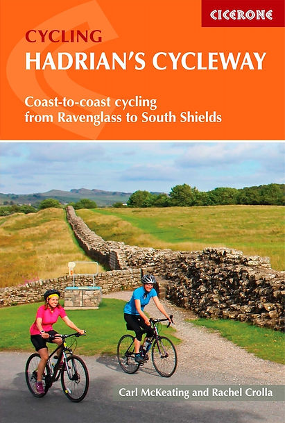 Cicerone Guide Cover Hadrian cycleway Permission Given by Publisher