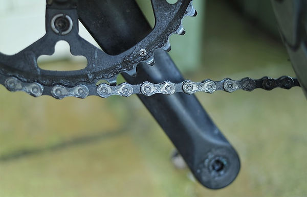 chain ring crank bicycle cycle chain velo