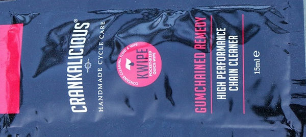 Crankalicious Kwipe Gumchained Chain Cleanr Wipes Test Review