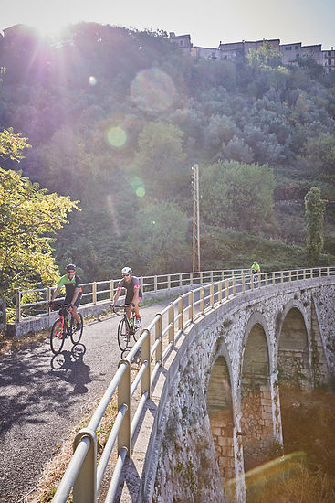 cycle track trail route bike railay path italy appenines