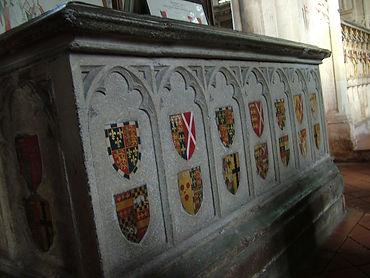 heraldry shioelds tomb ewelme