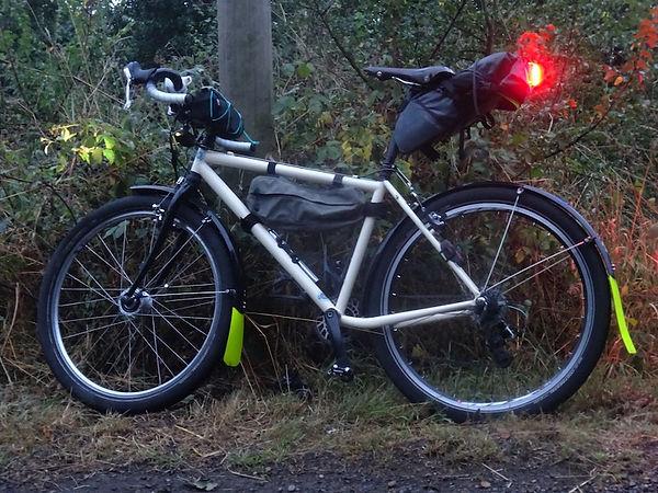 bike bicycle luggage bike packing lights white