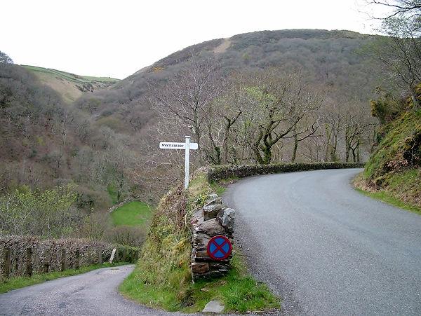 exmoor lynford gorge raod climb