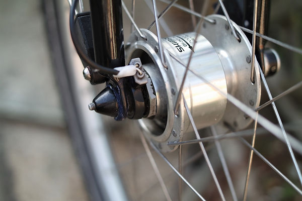 dyno hub dynamo wheel spoke bicycle bike cycle