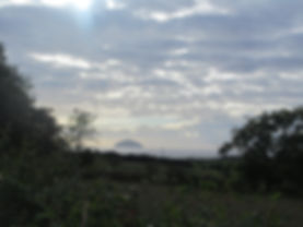 Ailsa Craig in the distance