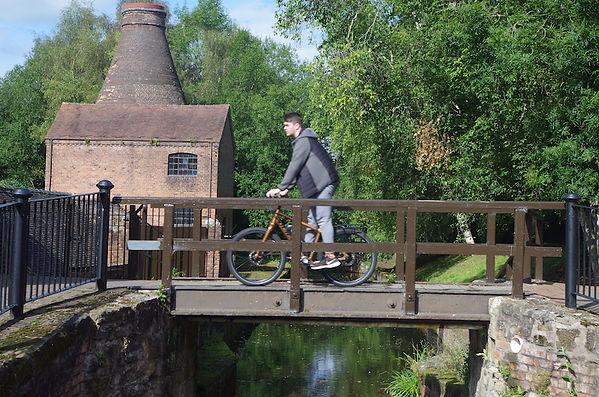bicycle cycle bike rider cyclist bridge