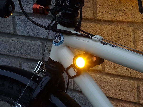 cycle light bike bicycle cycle safety amber side bright