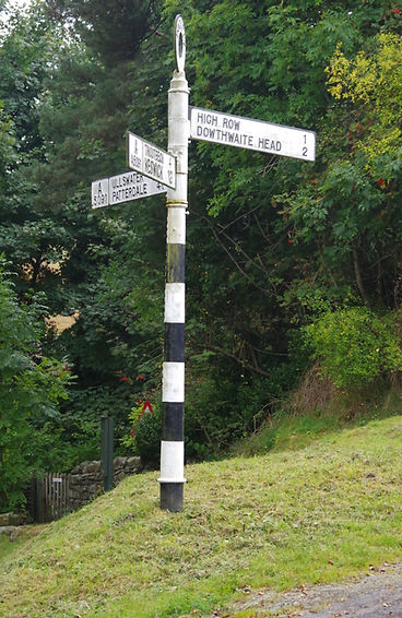 Matterdale, sign post, cumbria, finger post