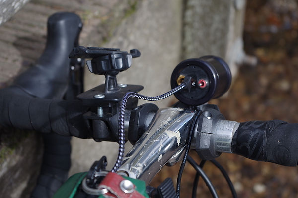 bicycle cycle bars light charger stem