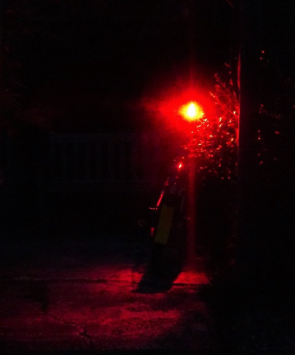 red light bike bicycle cycle rear