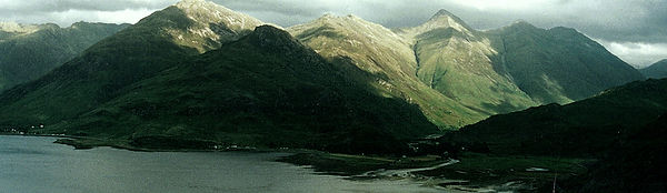 Five Sisters Kintail Loch Duich highlands scotland mountain