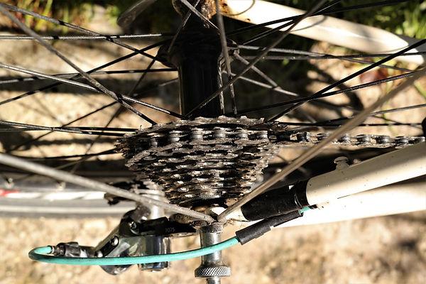 cassett chai bicycle bike cycling wheel