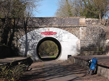 Milton of Campsie NCR755 Cycle route Brompton Scotland