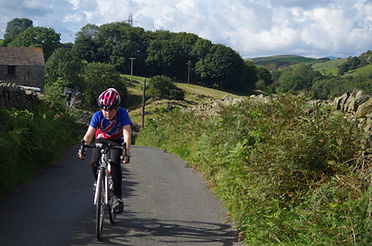 Climbing between Greenodd and Ulverston