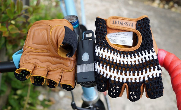 Passport crochet back cycling mitss fingerless gloves bike cycle retro vintage style