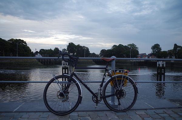 Bike water locks Nieuwpoort Belgium
