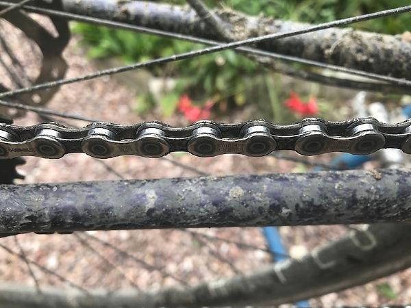 dirt stays frame bike bicycle chain clean lube oil