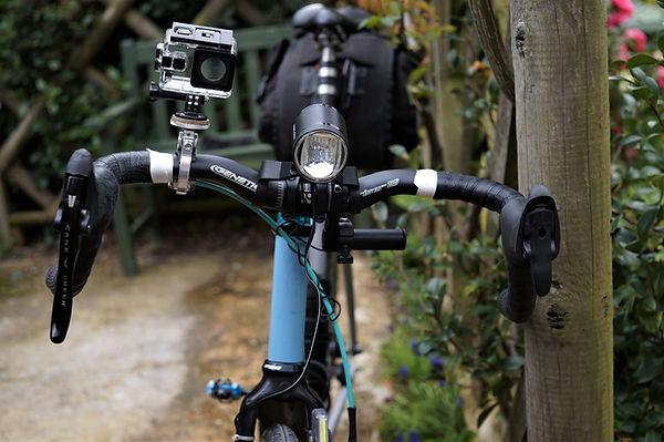 Cycign bicycle genetic handlebar bars camera