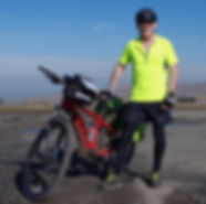 Power assisted cycle and cyclist Hartside summit