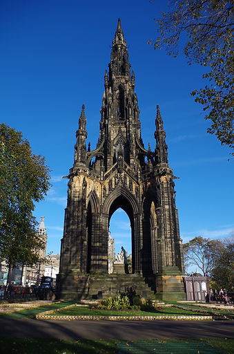 fianl destination in the hear of Edinburgh, the Scott Monumet