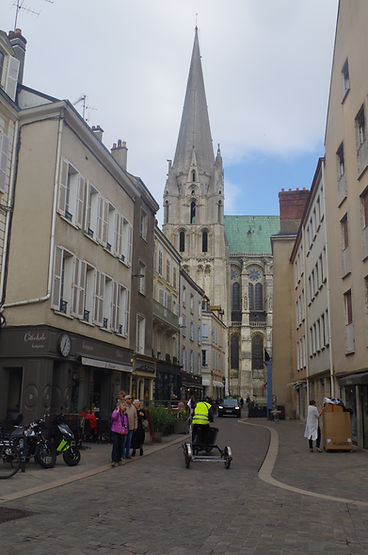 chartres cathedral upper town France
