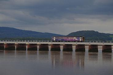 Viaduct, Kent, Arnside, Morecambe Bay Cycle Way, Train