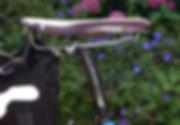 leather seat saddle bicycle bike stud