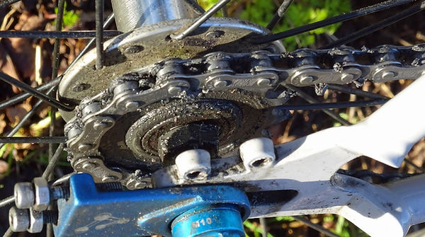 Smoove Universal Chain Lube on single speed sprocket