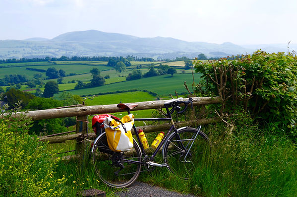 Cycing, Shropshire, hills, Corndon