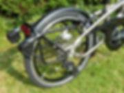 folding bike rack mudguard fender rear red light wheel tyre