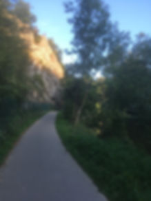 cycle track cliffs ourthe RaVel Belgium Barvaux Bomal Durbuy