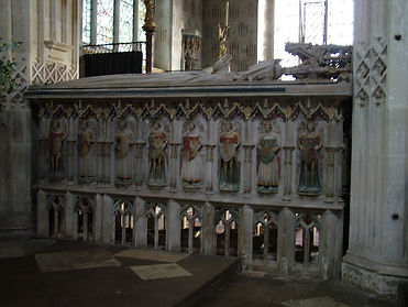 tomb ewelme church painted