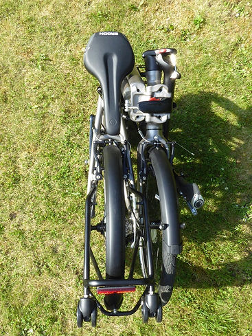 folded folding bike bicycle