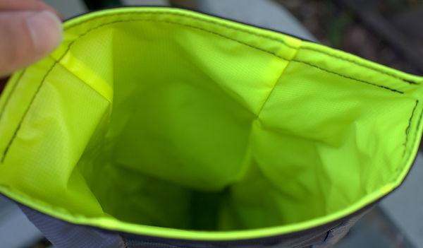 bike bag interior bag hi viz dayglo