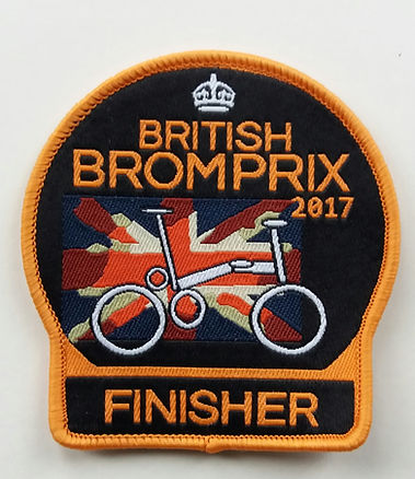 British Bromprix 2017 badge finisher