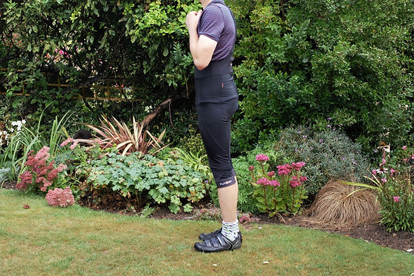 bib three quarters length cycling tights shorts cyclist clothing gear
