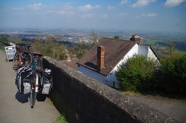 Bicycle Colwall cutting Malvern Hiills Worcestershire