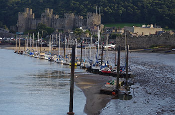 Conway conwy castle yachts harbour river Conwy NCR5