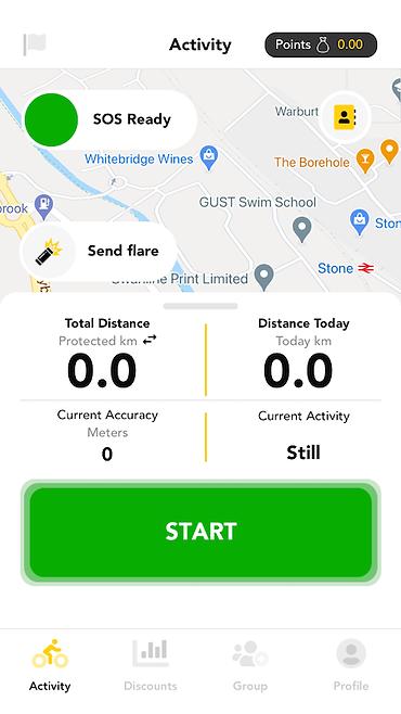 Busby scrren shot app cycling safety
