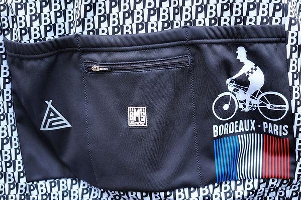 cyclng short sleeve jersey bordeaux paris logo prendas