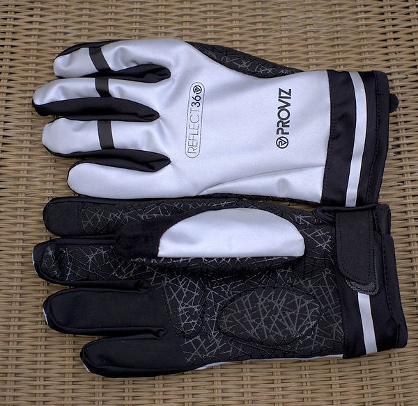 gloves cycling bike bicycle gear clothing winter autumn spring reflective commute
