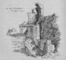 scarborough castle drawbrige sketch Charlie Chadwick