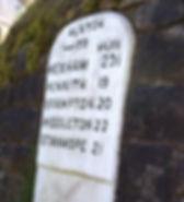 Alston milestone Cumbria