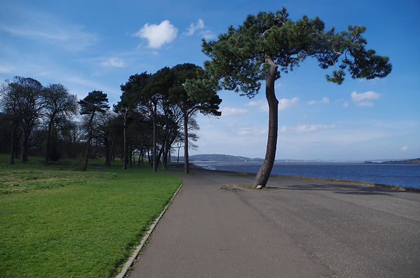 Silverknowes cycle route seafront Forth Firth